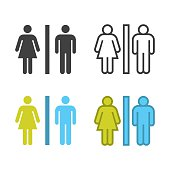 Toilet Sign Icon Vector EPS File.