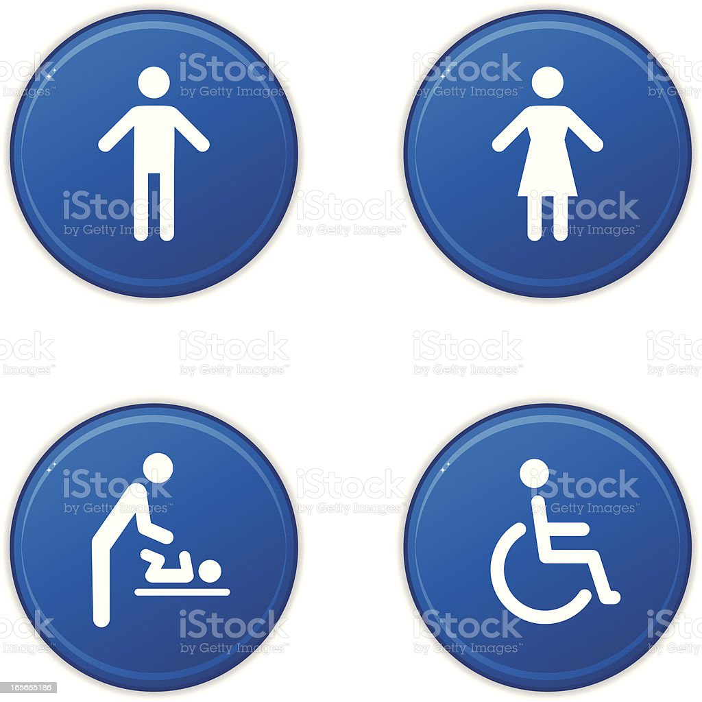 Toilet sign icons royalty-free stock vector art