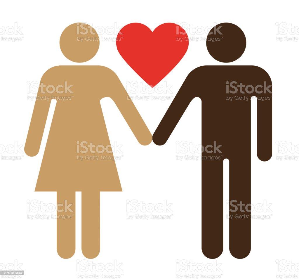 Ilustración de Tocador Signo Relaciones Pareja Interracial y más ...
