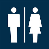 Toilet sign vector icon