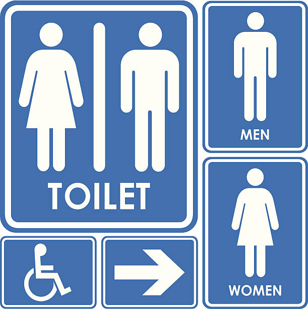 Best Restroom Sign Illustrations, Royalty-Free Vector
