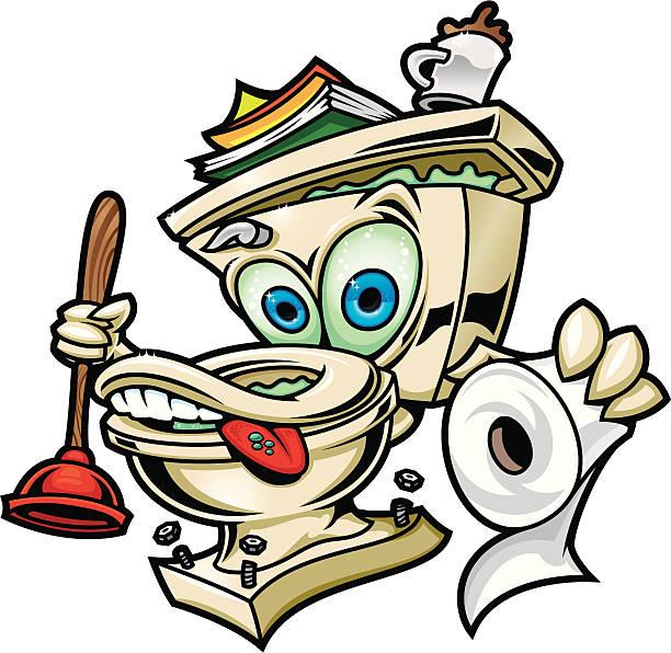 Toilet, Sit on me! vector art illustration