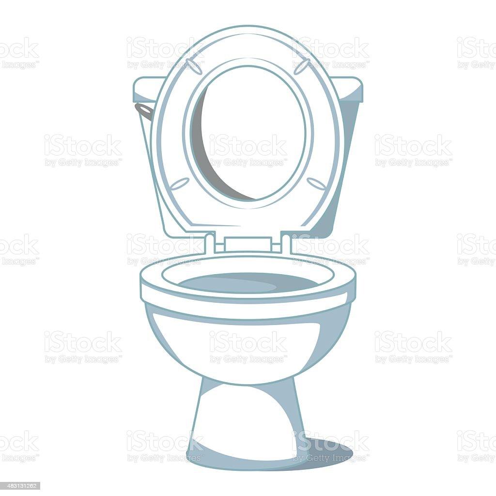 Toilet royalty free stock vector art. Toilet stock vector art 483131262   iStock