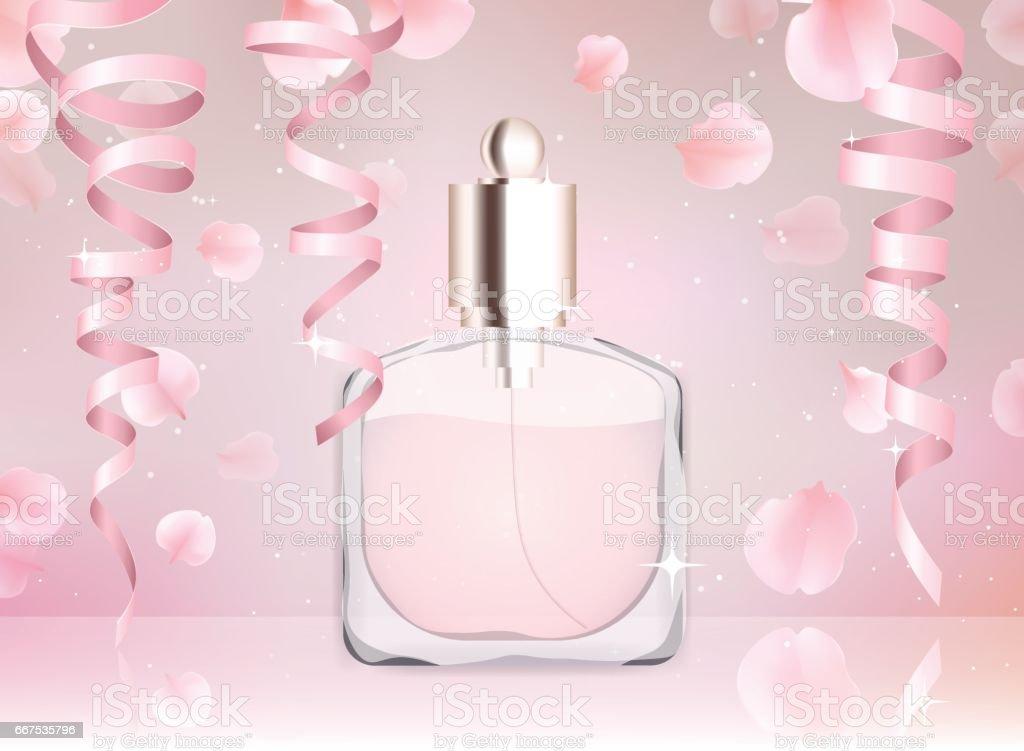 Toilet water perfume bottle vector illustration toilet water perfume bottle vector illustration - immagini vettoriali stock e altre immagini di accudire royalty-free