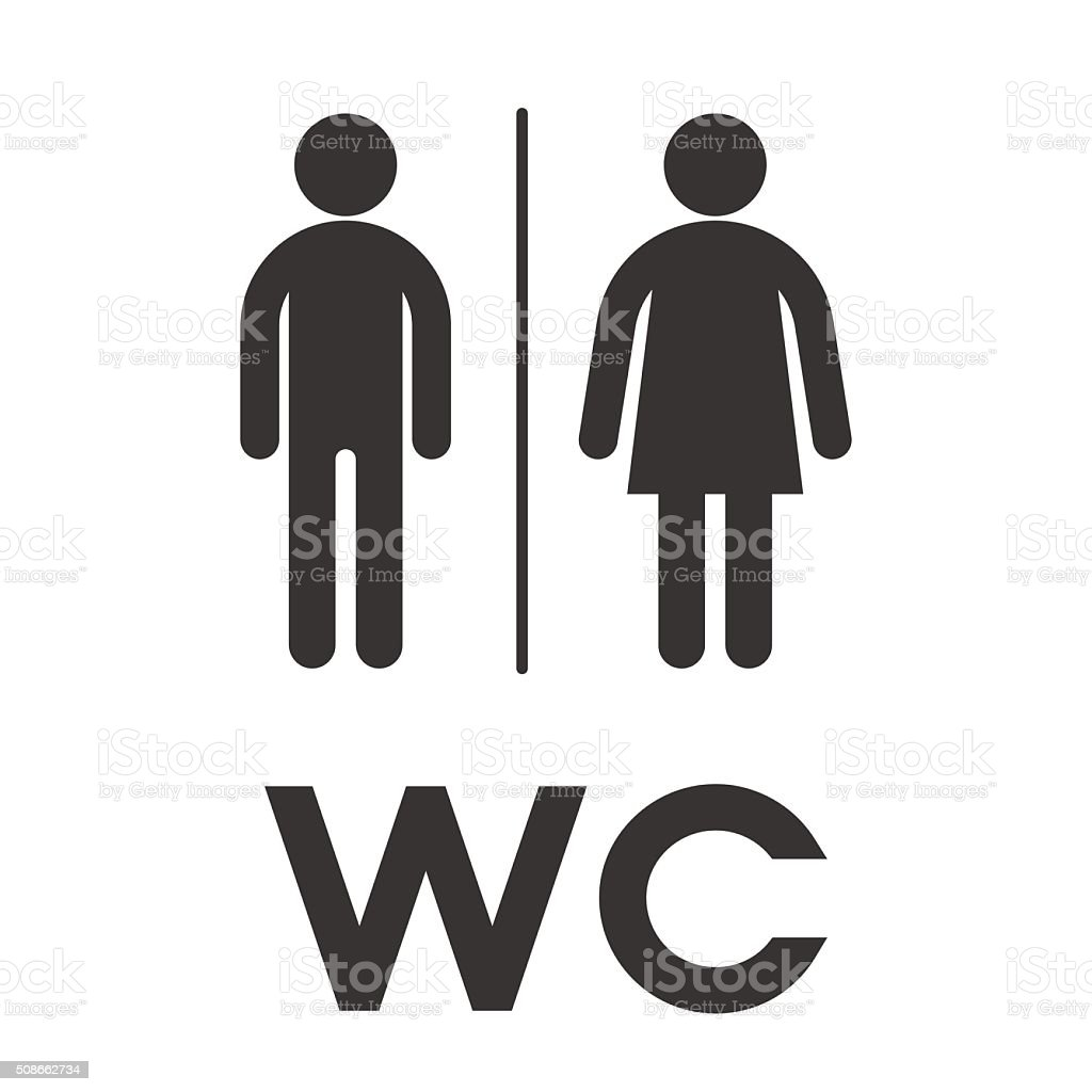 Toilet  wc  restroom sign  Symbol male and female toilet royalty free stock. Toilet Wc Restroom Sign Symbol Male And Female Toilet stock vector