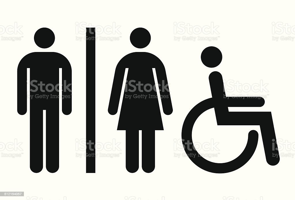 Wc wc insegna di toilette pubblica immagini vettoriali for Wc immagini