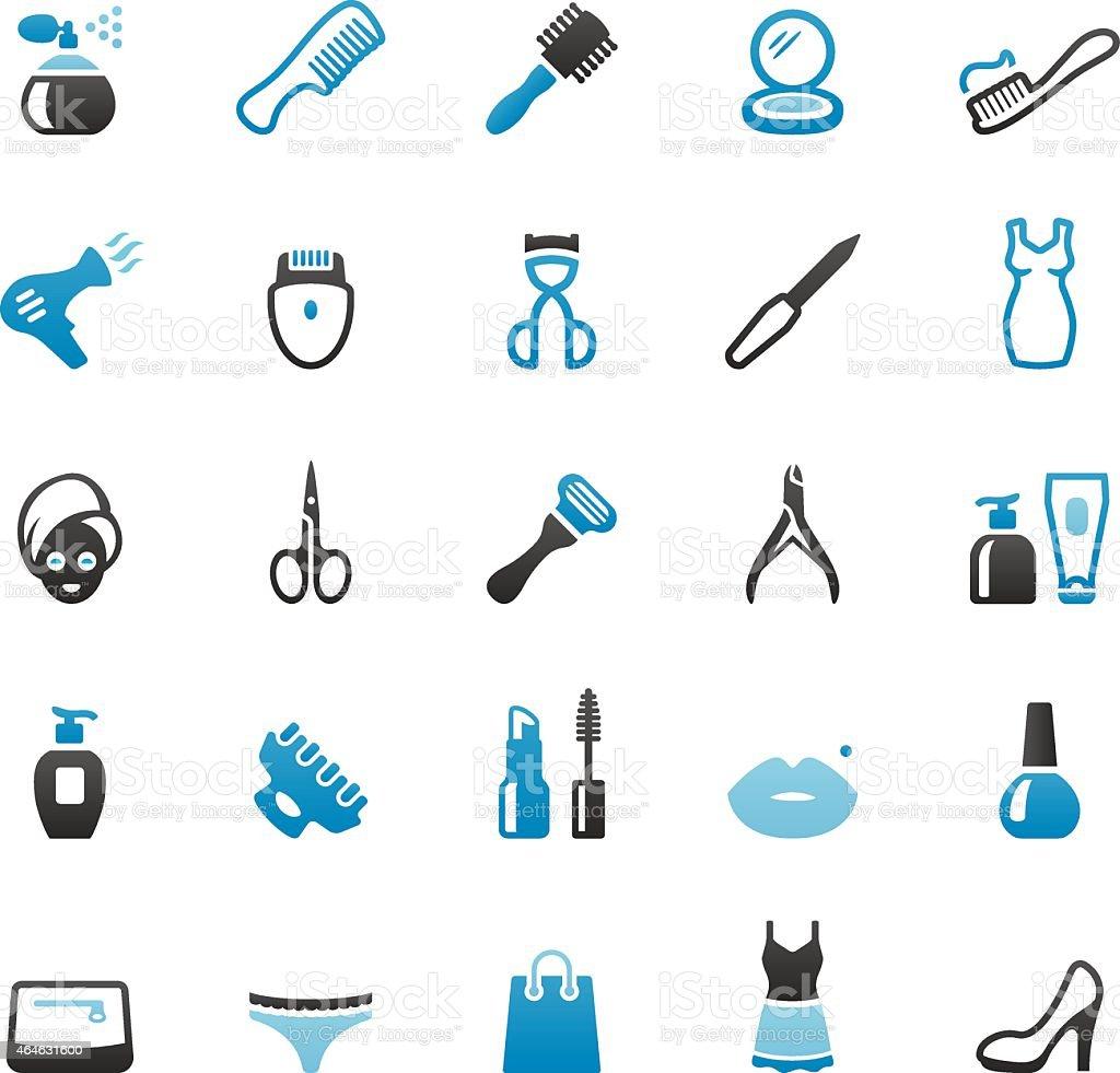 Produtos de higiene pessoal e produtos de beleza - ilustração de arte em vetor
