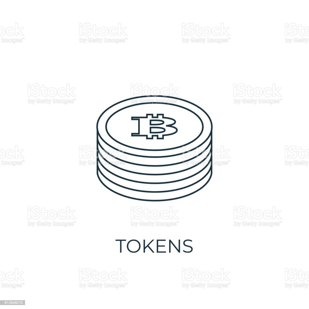 Tokens Line icon. Simple element illustration vector art illustration