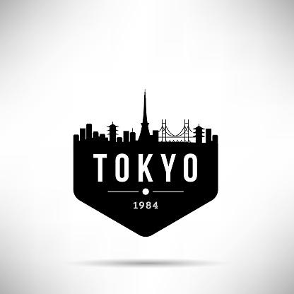 Tokyo City Modern Skyline Vector Template