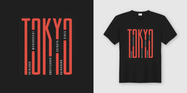 tokyo city stylish t-shirt and apparel design, typography, print, vector illustration. - urban fashion stock illustrations, clip art, cartoons, & icons