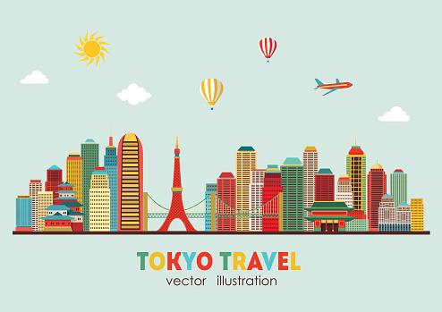 Tokyo skyline. Vector illustration