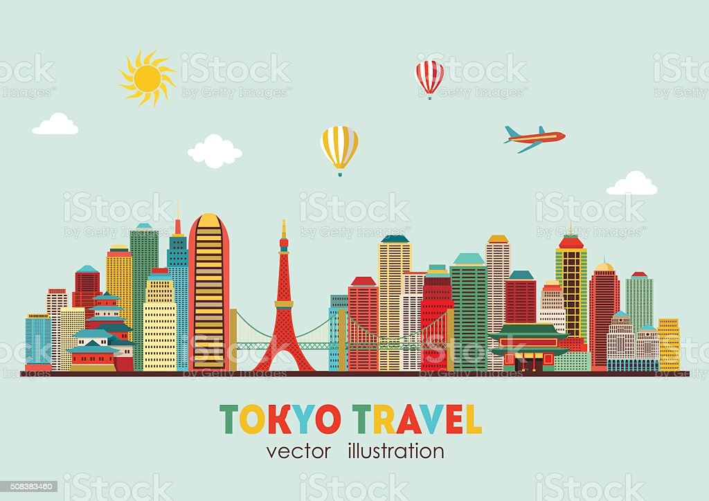 Tokyo skyline. Vector illustration vector art illustration