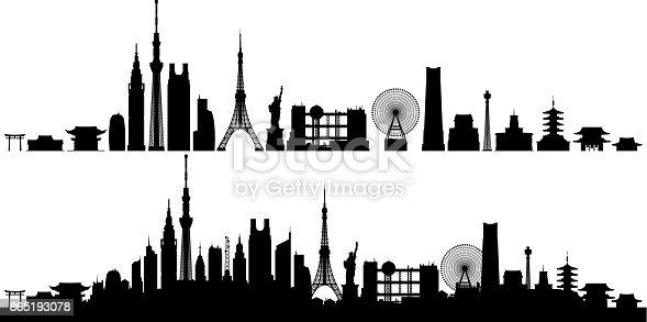 Tokyo. All buildings are complete and moveable.