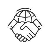 istock Tolerance concept - line design single isolated icon 1265230945