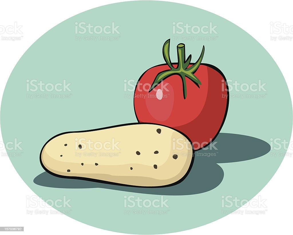 Tomato and potato royalty-free stock vector art