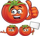Cartoon tomato set including: