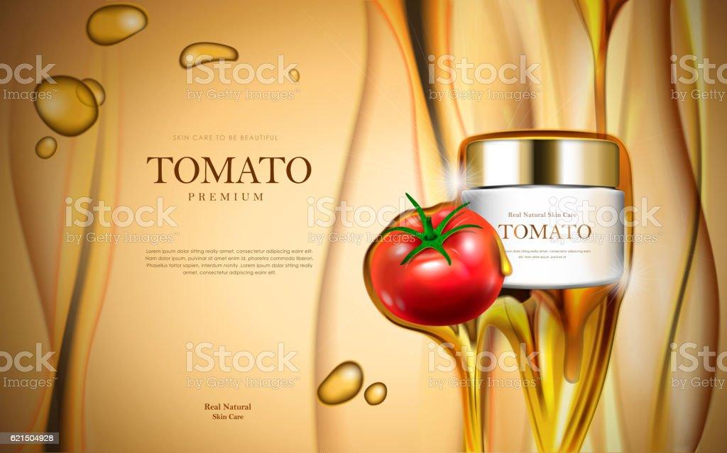 Tomato cosmetic ads tomato cosmetic ads – cliparts vectoriels et plus d'images de affiche libre de droits