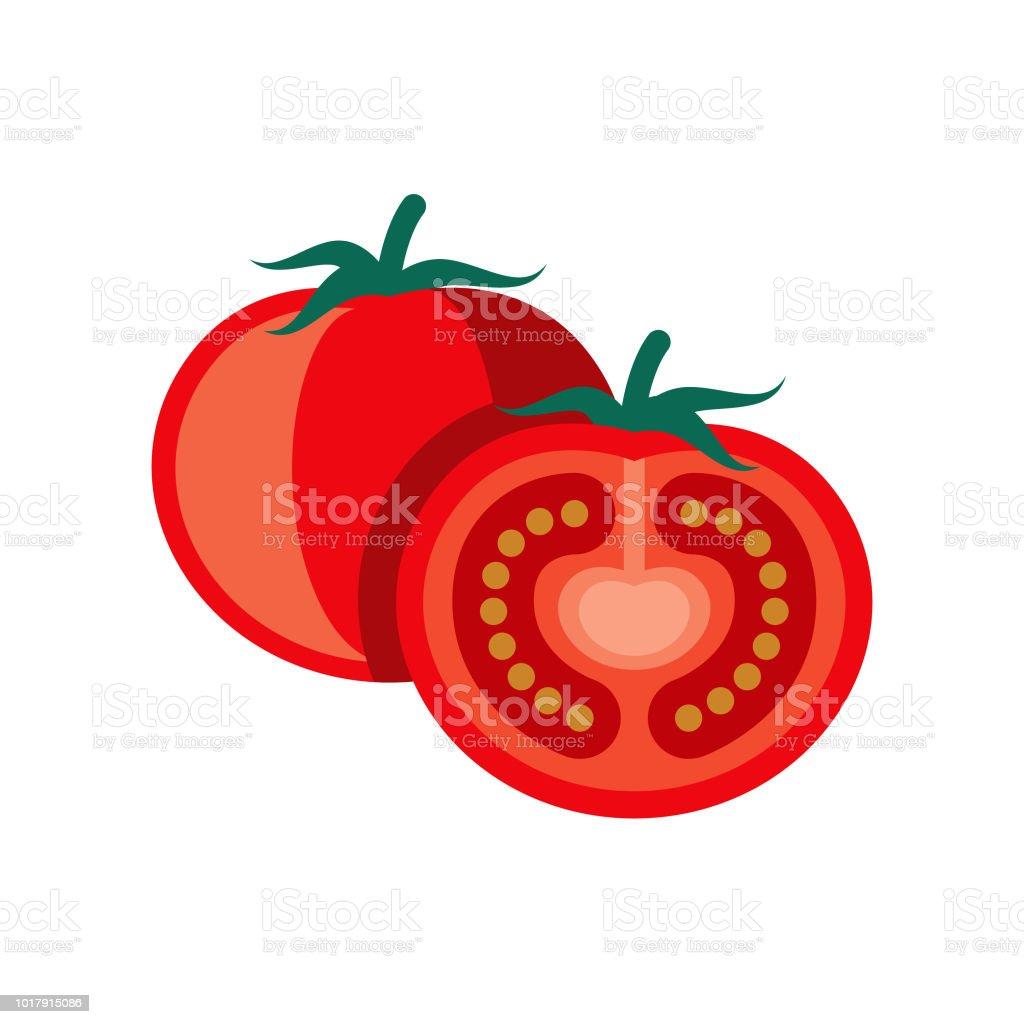 Tomato Flat Design Vegetable Icon vector art illustration