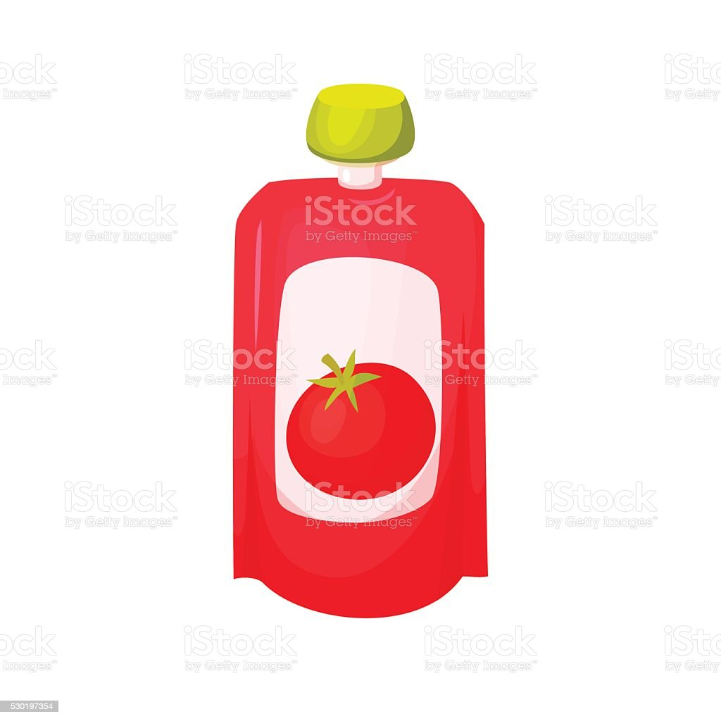 Tomato juice package vector art illustration