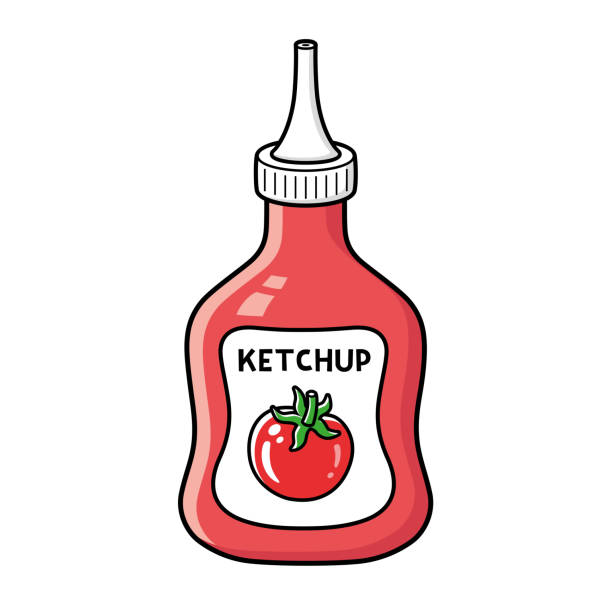 Best Cartoon Of The Ketchup Bottle Illustrations, Royalty ...