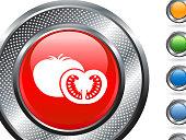 tomato on metallic button