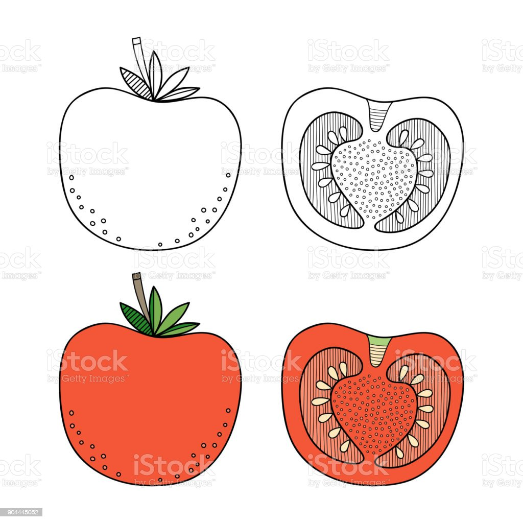 Fruits and Vegetable Coloring Books Pdf for Kids- | Fruit coloring ... | 1024x1024