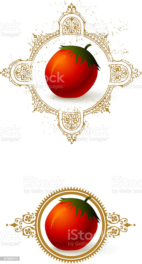 Tomato with Borders royalty-free tomato with borders stock vector art & more images of color image
