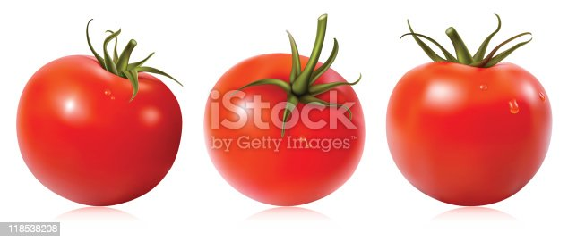 istock Tomato with water drops. 118538208