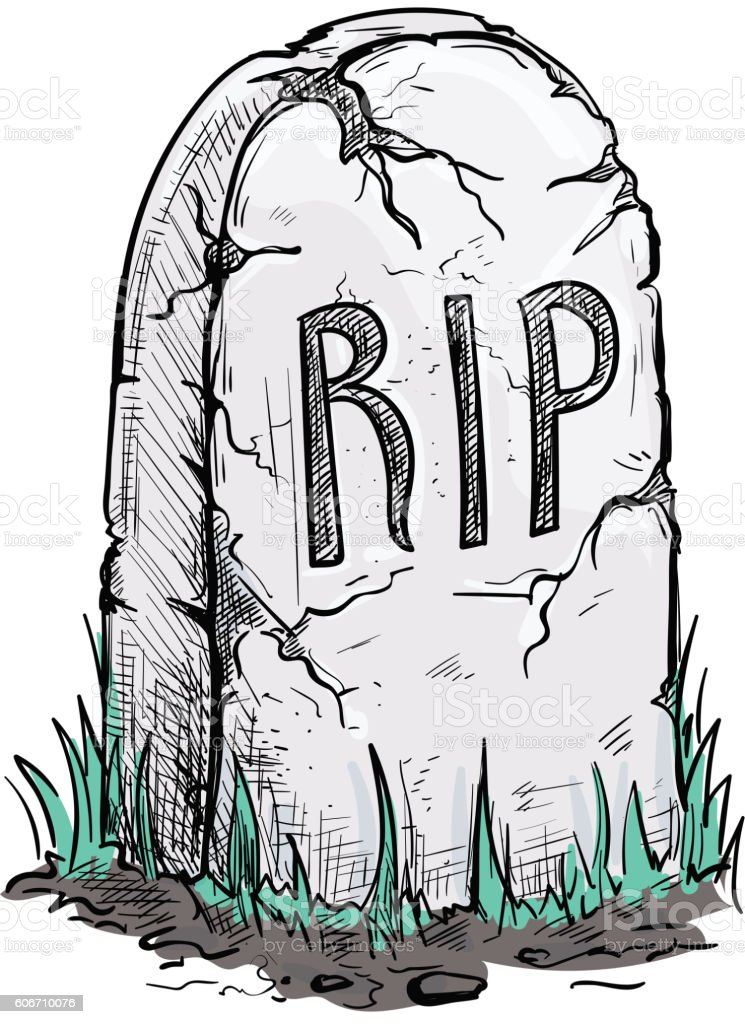 Relatively Rip Tomb Grave Stone Sketch Icon Stock Vector Art & More Images of  KZ86