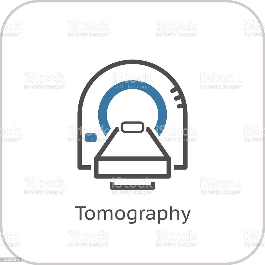 Tomography Icon. Flat Design. vector art illustration