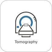 Tomography Icon. Flat Design.