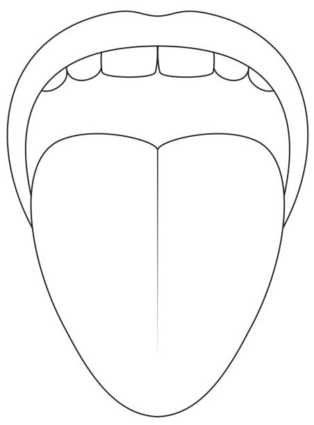 coloring pages for tongue teeth - photo#47