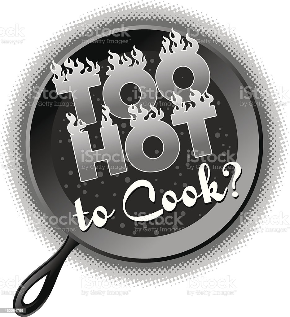 Too Hot Heading royalty-free too hot heading stock vector art & more images of cooking