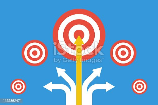 too many different targets, selected must important, best choice or split goals concept