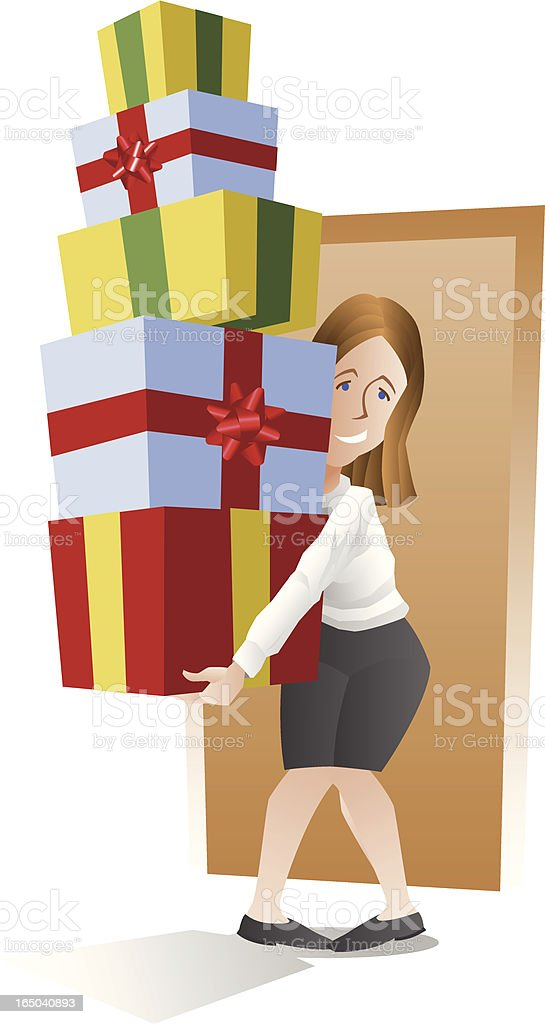 Too Many Gifts! royalty-free too many gifts stock vector art & more images of adult