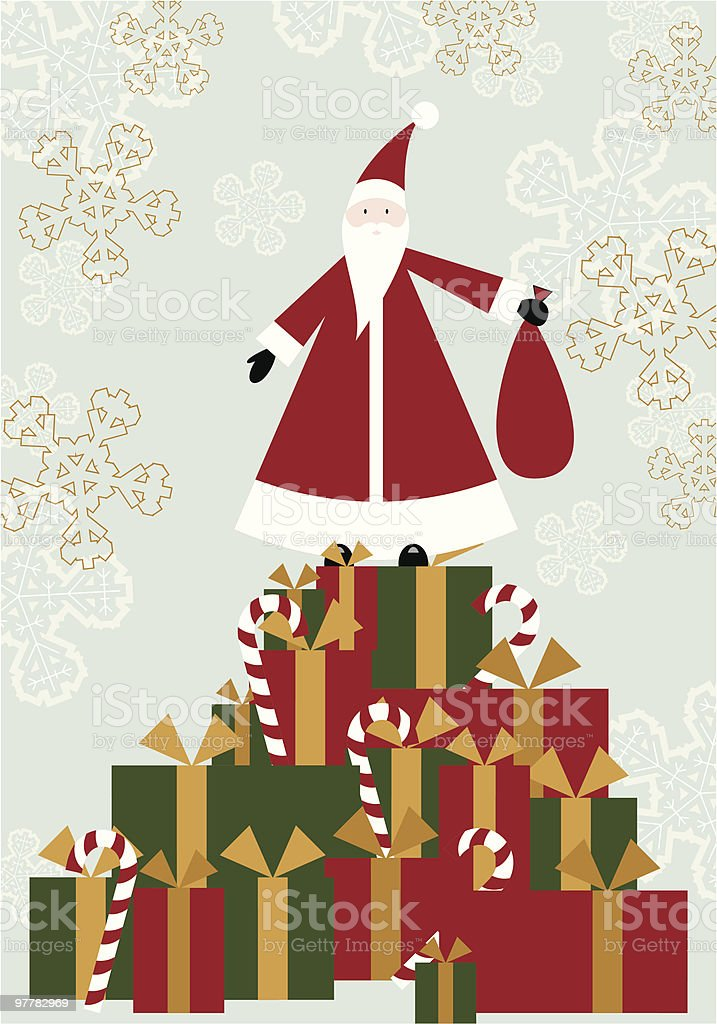 Too Many Gifts royalty-free stock vector art