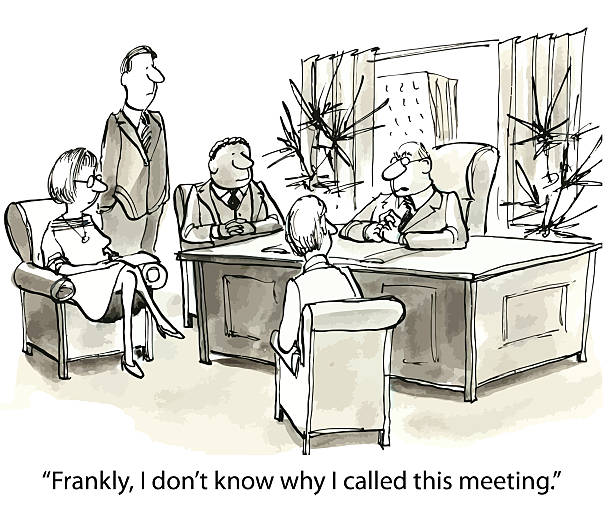 Royalty Free Boring Meeting Clip Art, Vector Images ...