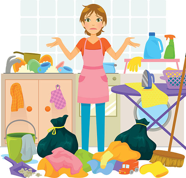 Clip Art Messy Kitchen: Top 60 Clutter Clip Art, Vector Graphics And Illustrations