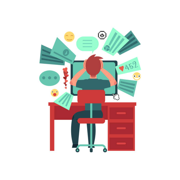 too much information in network. - duża grupa obiektów stock illustrations