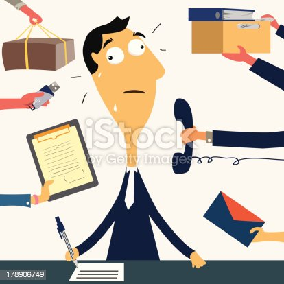 istock Too much work to do 178906749