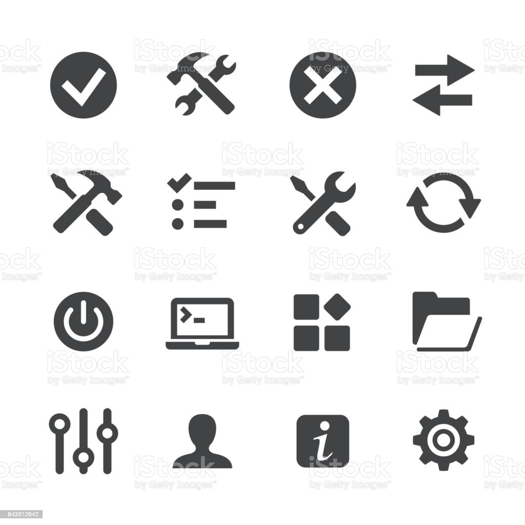 Tool and Setting Icons - Acme Series vector art illustration