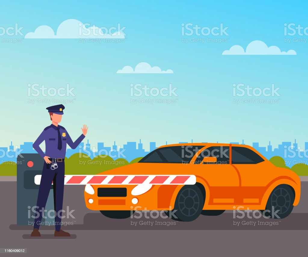 Tool Booth Car Concept Vector Flat Cartoon Graphic Design Isolated Illustration Stock Illustration Download Image Now Istock