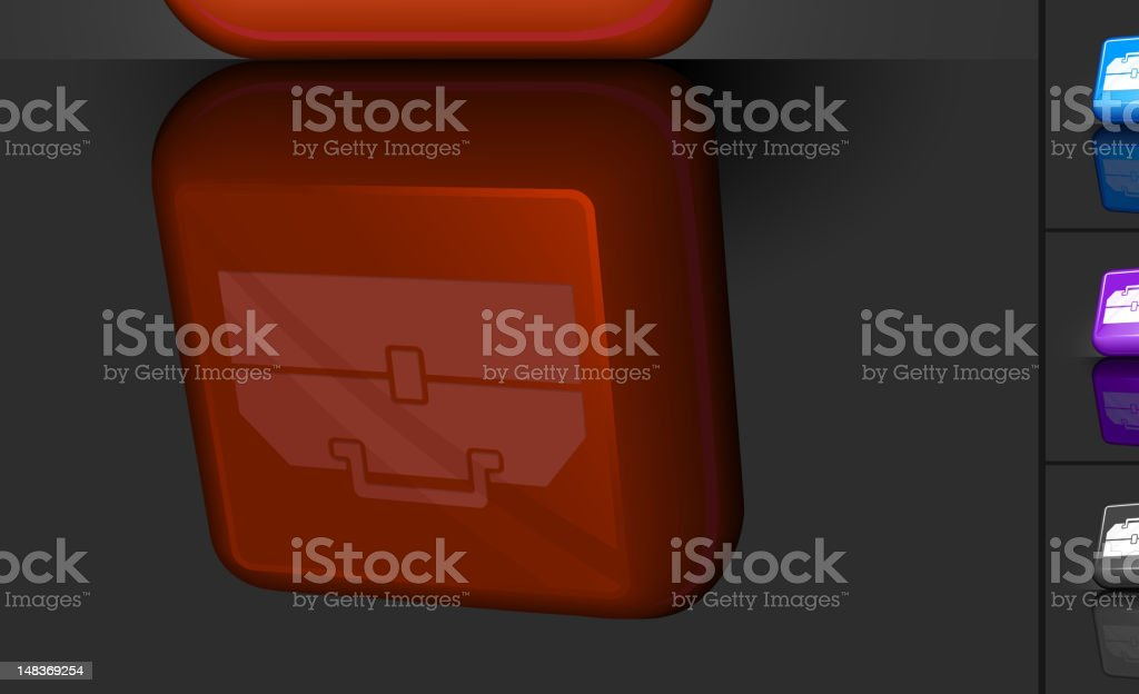 tool box 3D button design royalty-free stock vector art