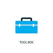 istock Tool box icon. Logo element illustration 1165682395