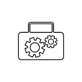 istock Tool box icon, vector illustration 1300447298