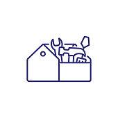 istock Tool box line icon 1086645506