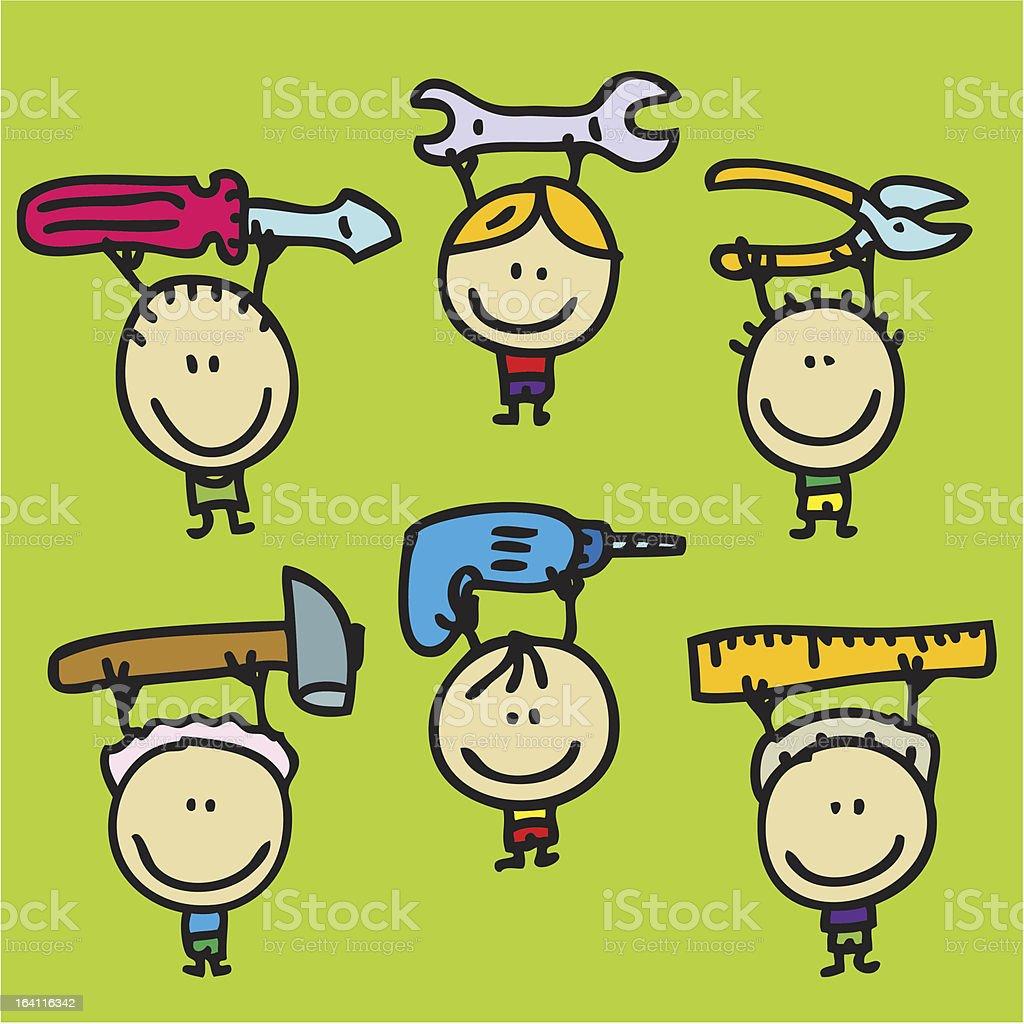 Tool children royalty-free tool children stock vector art & more images of boys