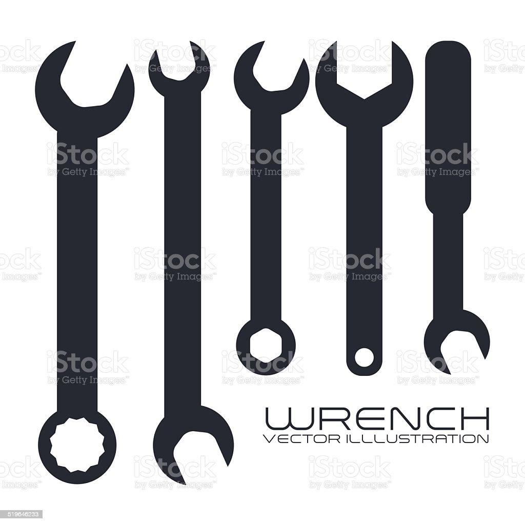 tool design vector art illustration