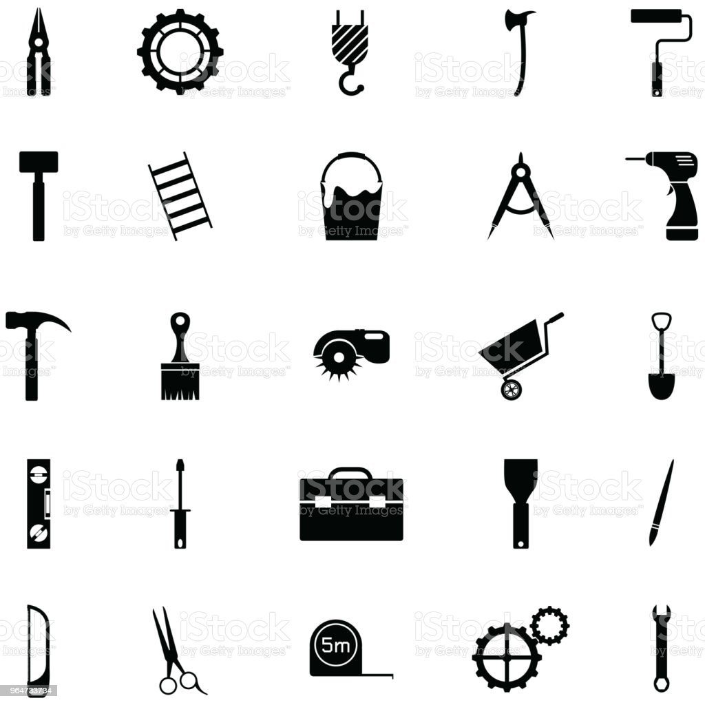 tool icon set royalty-free tool icon set stock vector art & more images of drill