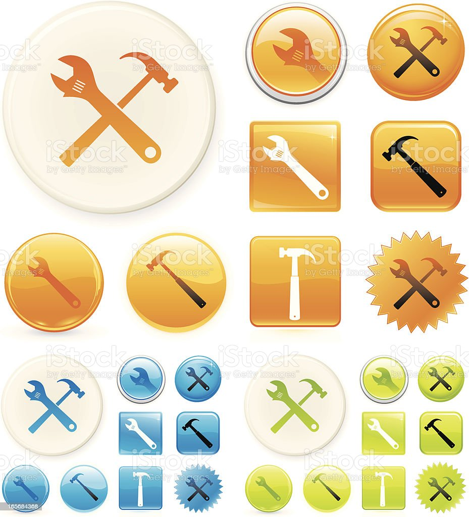 Tool icons royalty-free stock vector art